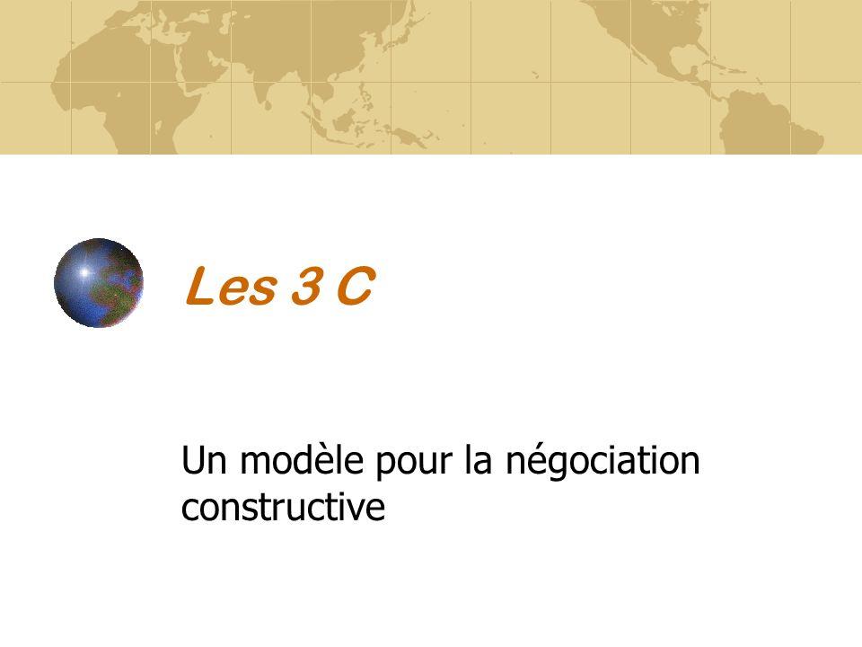 Un modèle pour la négociation constructive