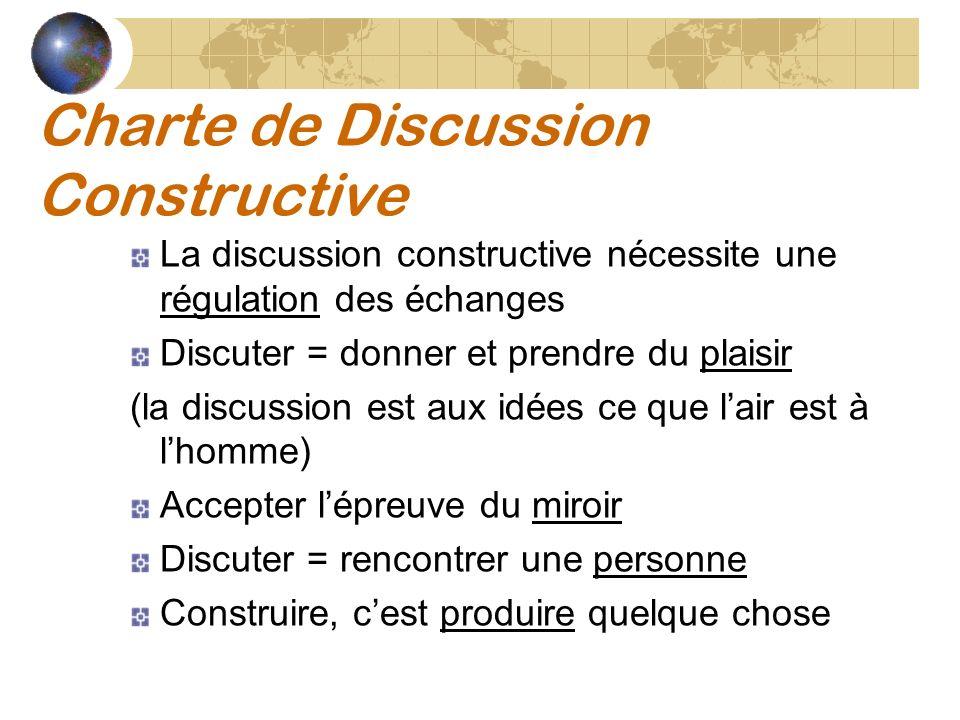 Charte de Discussion Constructive