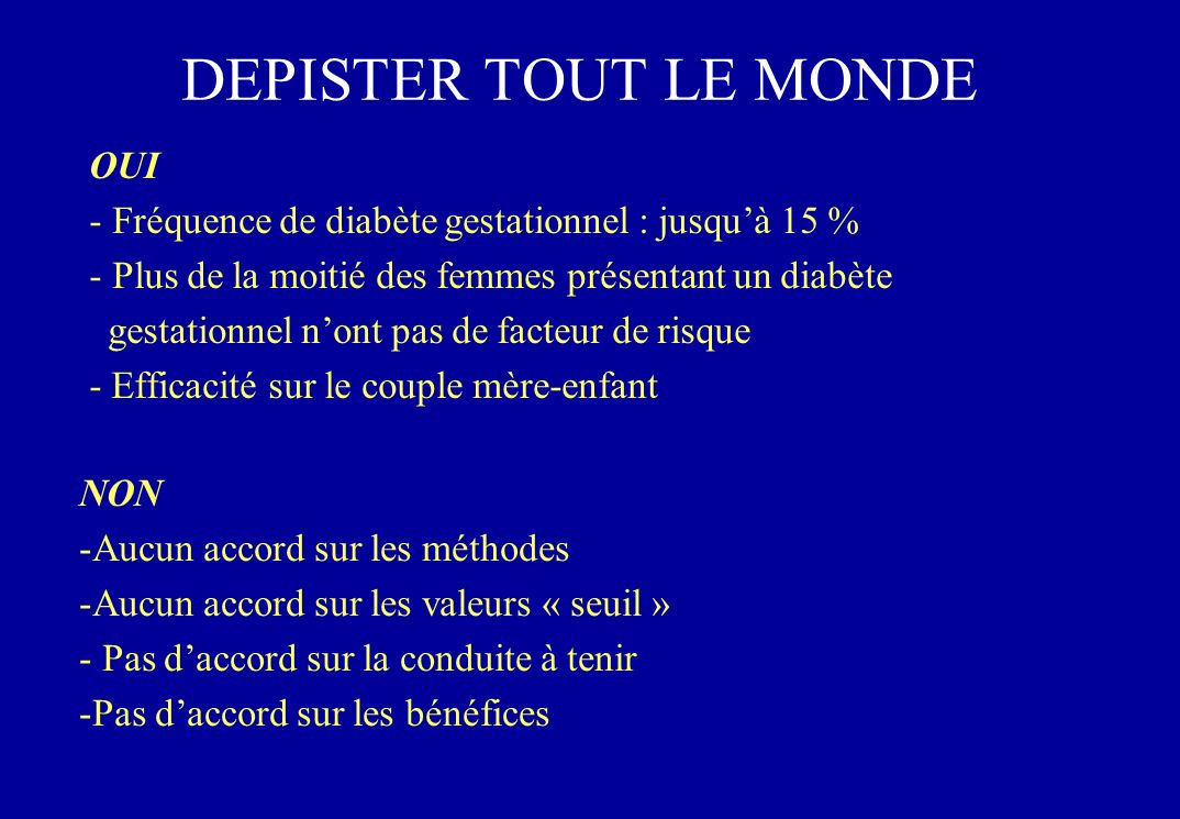 DEPISTER TOUT LE MONDE OUI