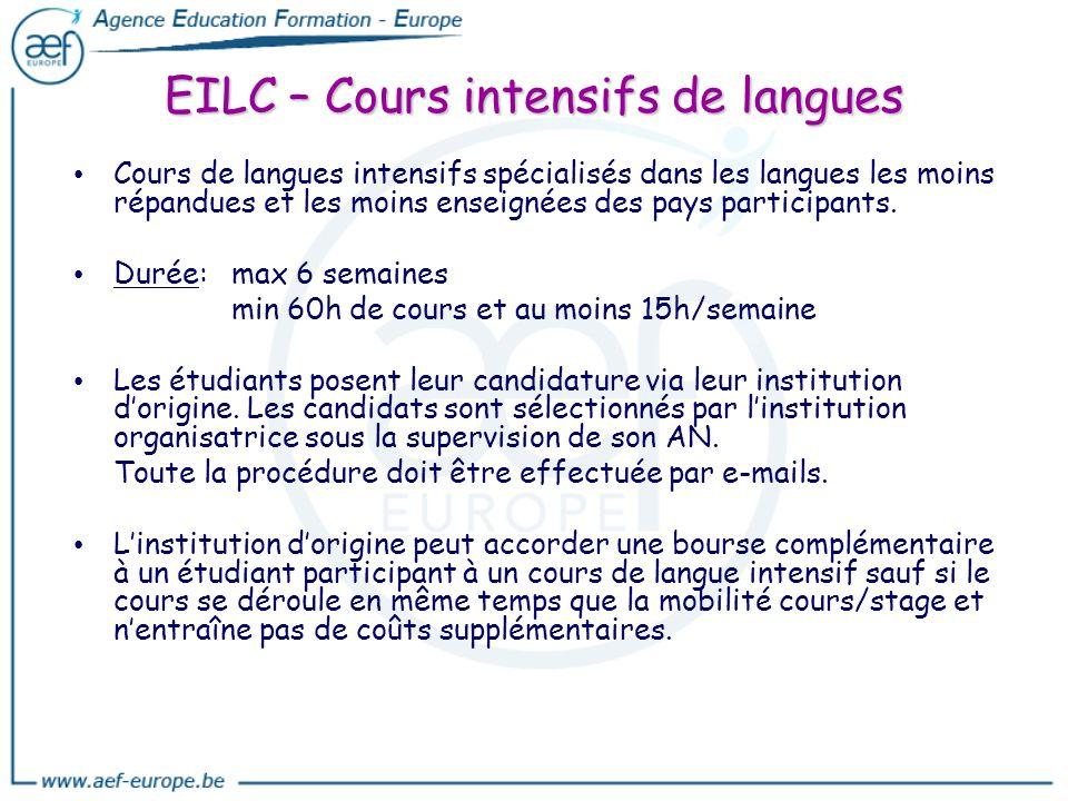 EILC – Cours intensifs de langues