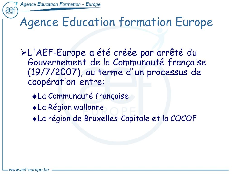 Agence Education formation Europe