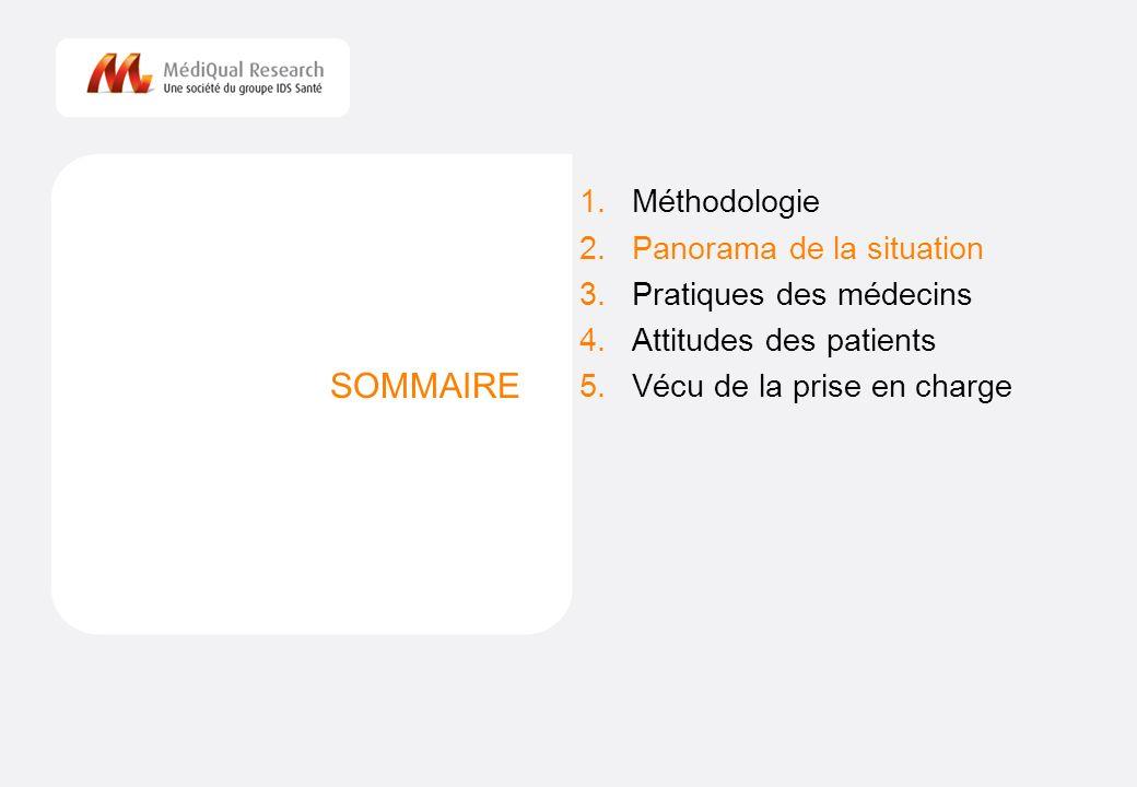 SOMMAIRE Méthodologie Panorama de la situation Pratiques des médecins