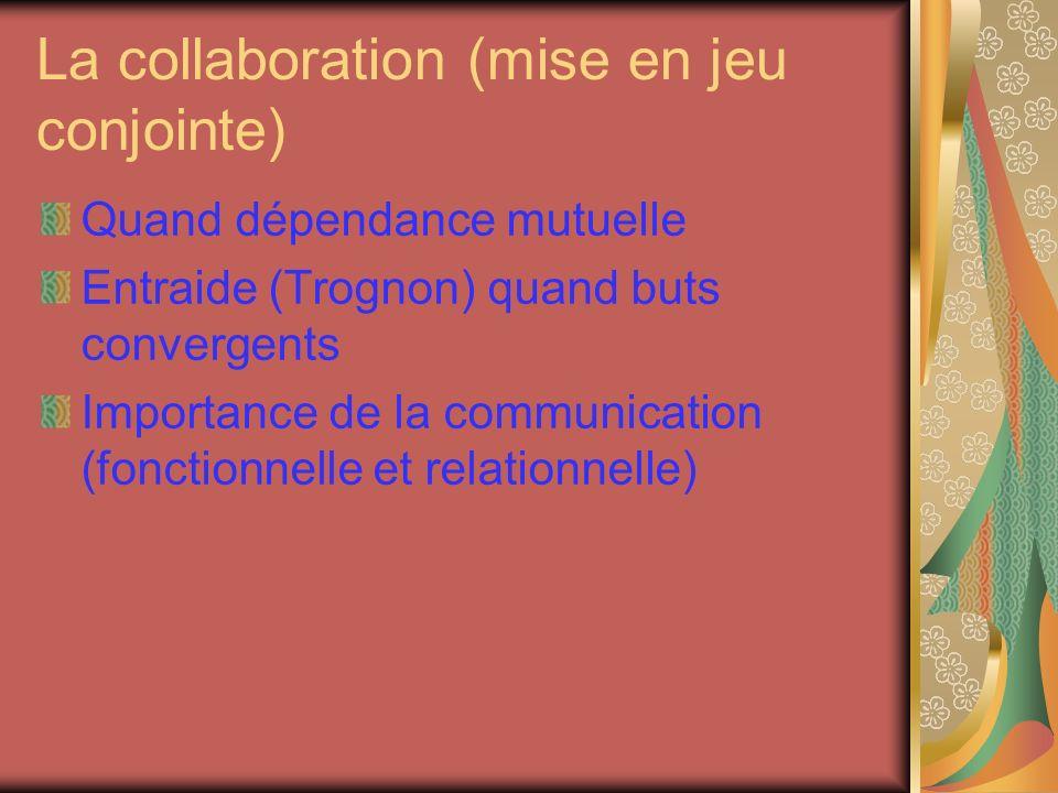 La collaboration (mise en jeu conjointe)