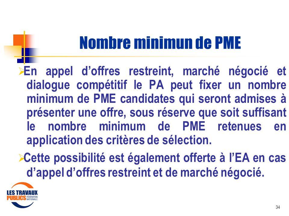 Nombre minimun de PME