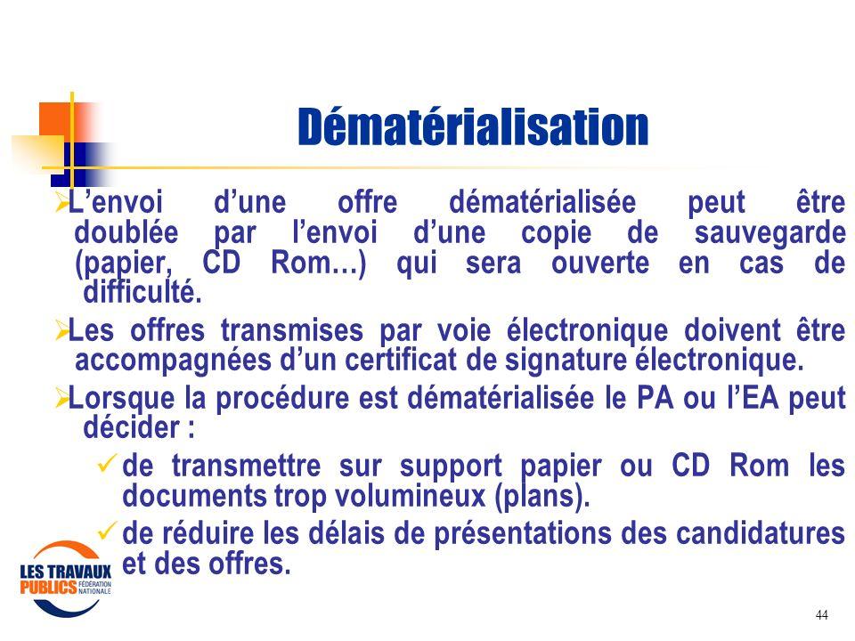 Dématérialisation