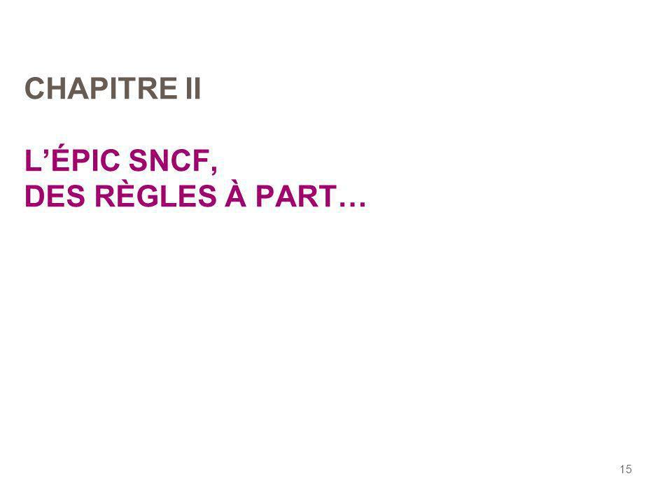 CHAPITRE II L'ÉPIC SNCF, DES RÈGLES À PART…