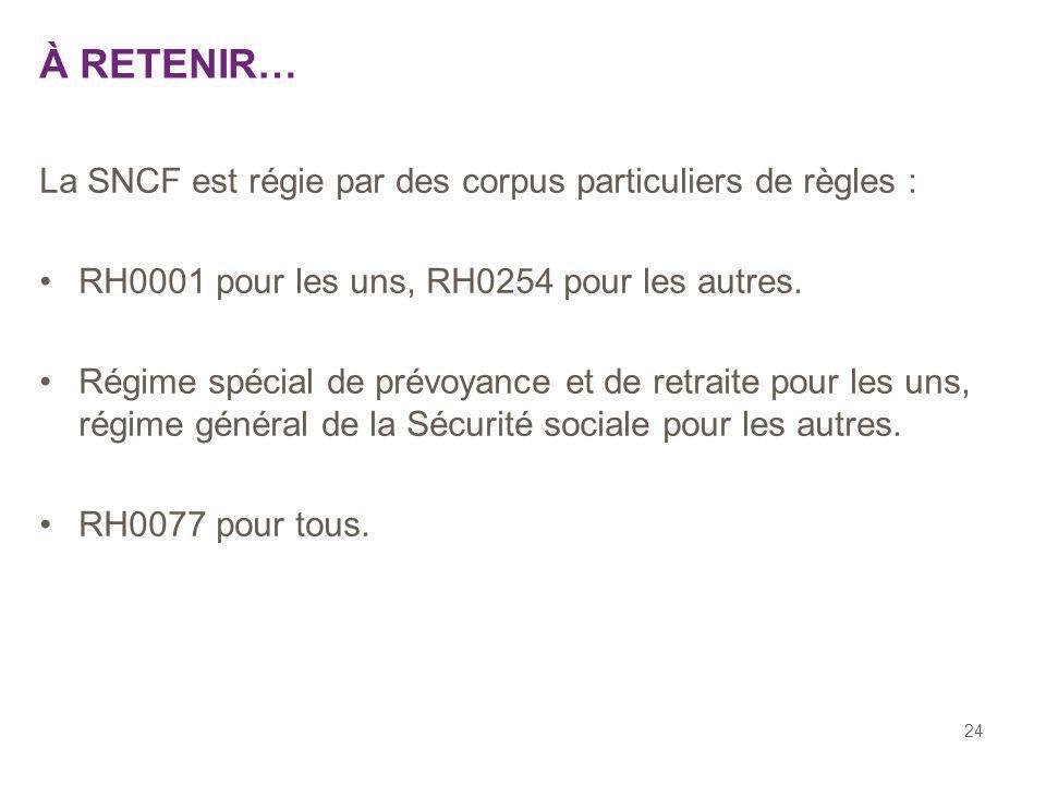 À RETENIR… La SNCF est régie par des corpus particuliers de règles :