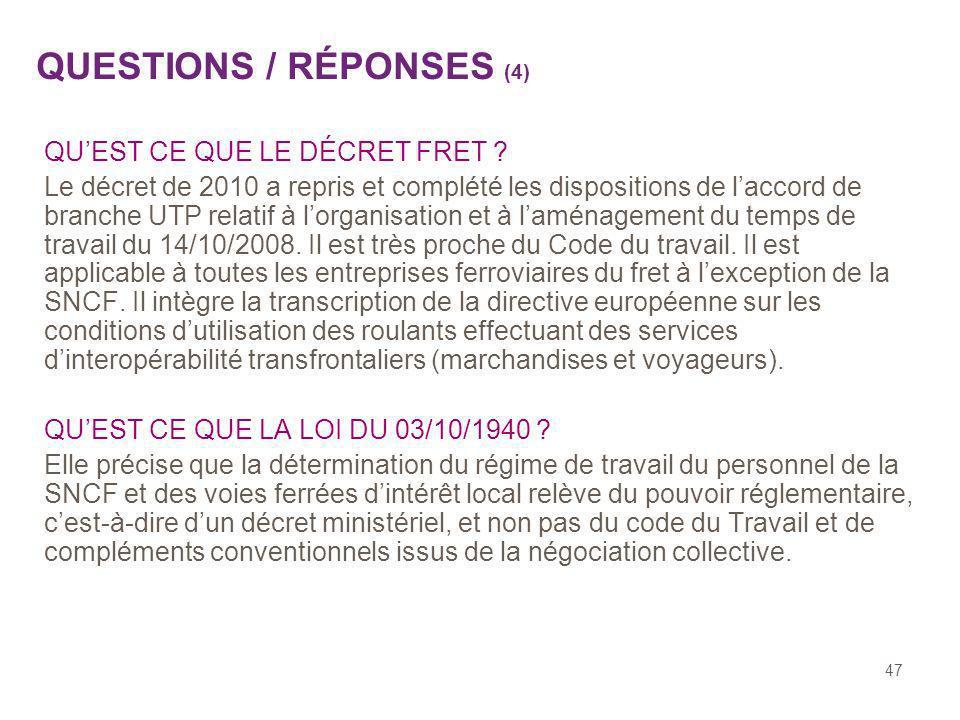 QUESTIONS / RÉPONSES (4)
