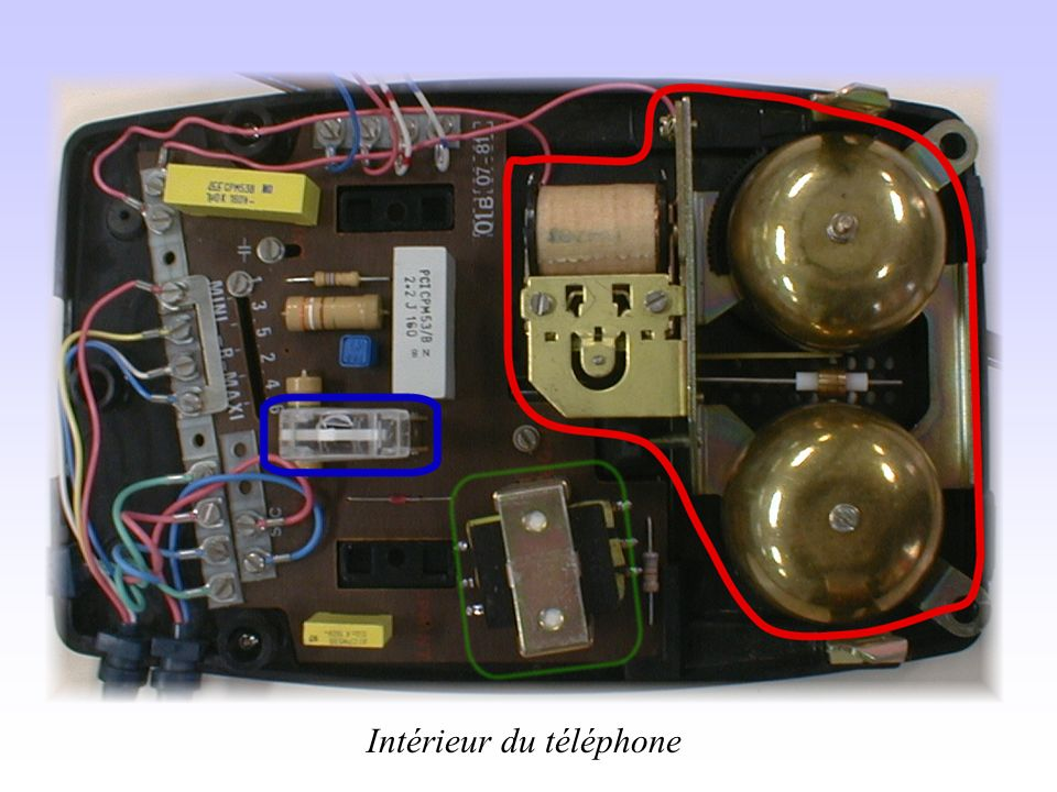 Intérieur du téléphone