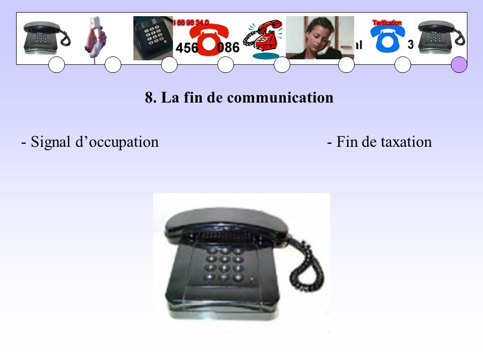 8. La fin de communication