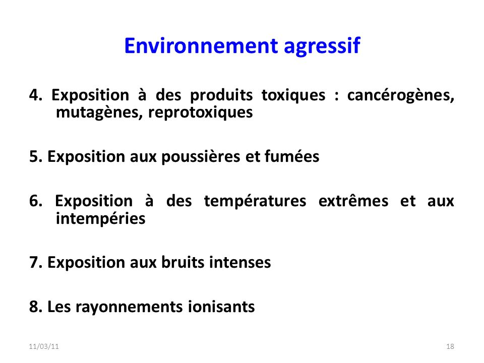Environnement agressif