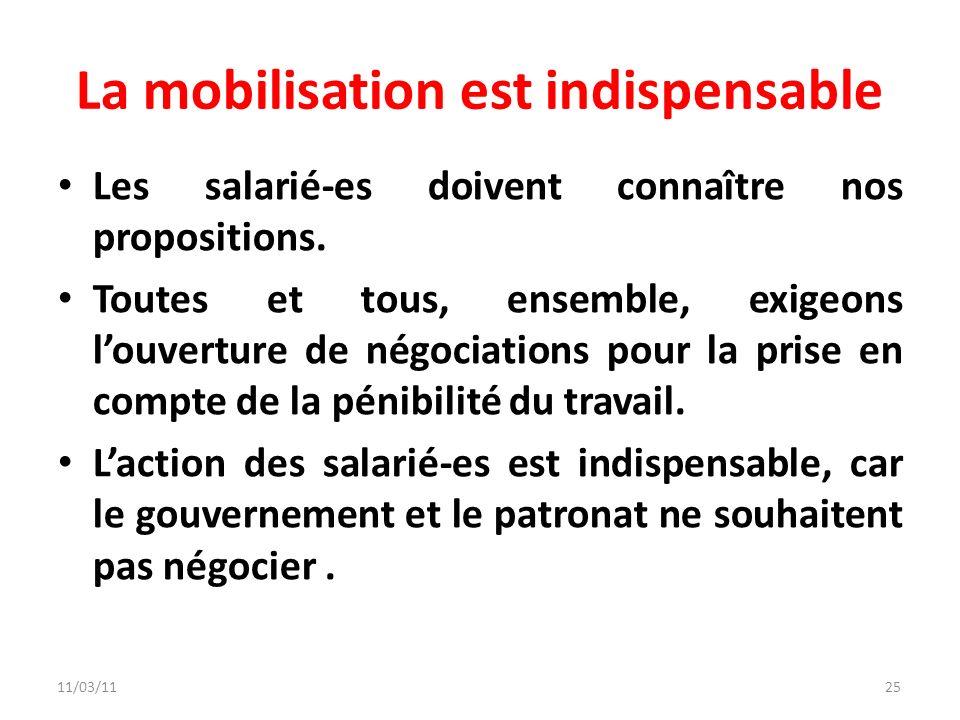 La mobilisation est indispensable