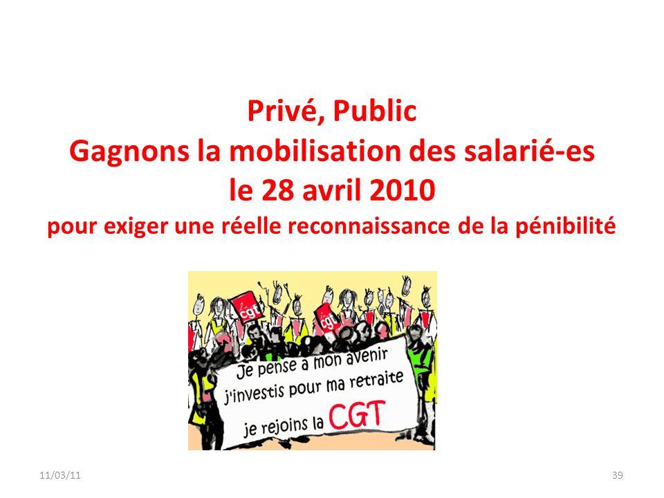 Privé, Public Gagnons la mobilisation des salarié-es le 28 avril 2010