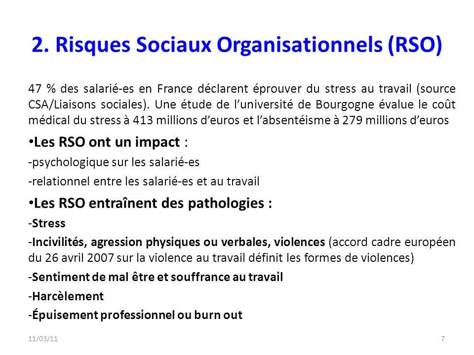 2. Risques Sociaux Organisationnels (RSO)