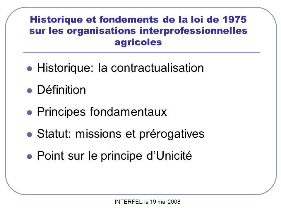 Historique: la contractualisation Définition Principes fondamentaux