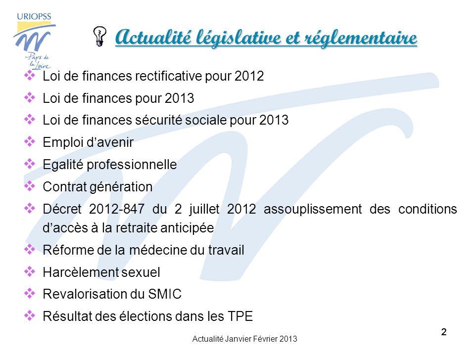 Actualité législative et réglementaire