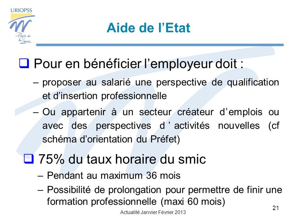 Pour en bénéficier l'employeur doit :