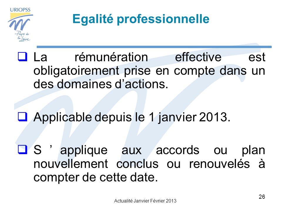 Egalité professionnelle