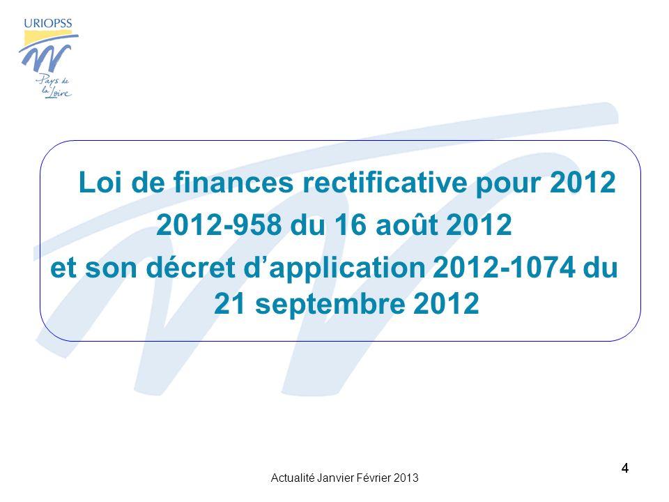 et son décret d'application 2012-1074 du 21 septembre 2012