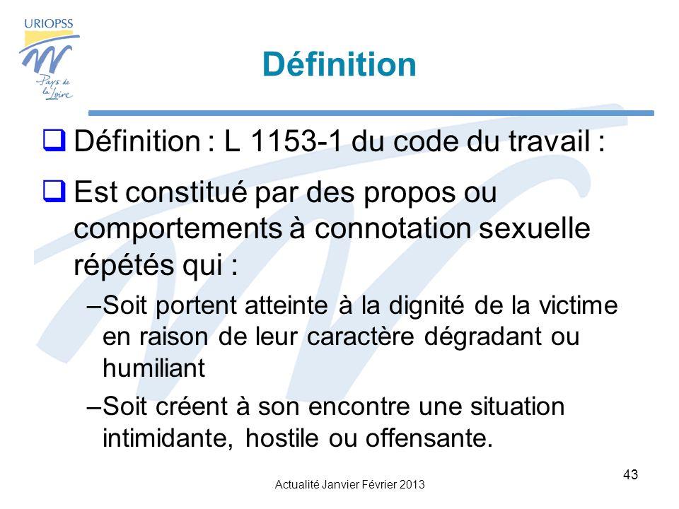 Définition Définition : L 1153-1 du code du travail :