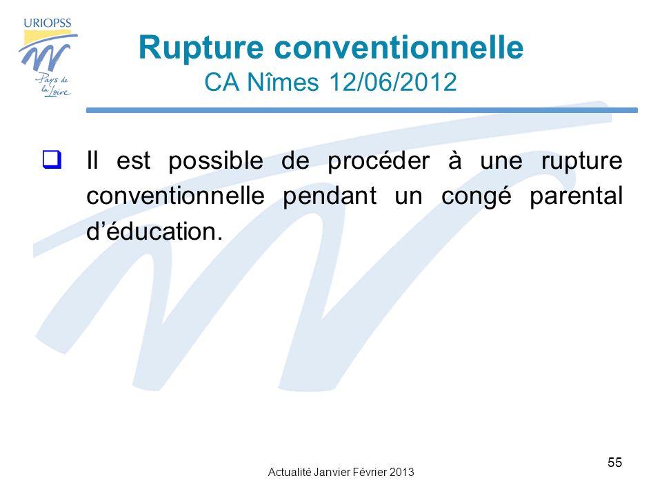Rupture conventionnelle CA Nîmes 12/06/2012