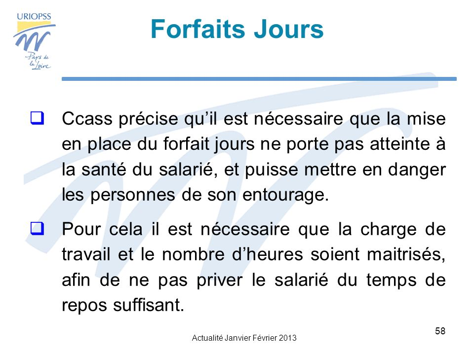 Forfaits Jours