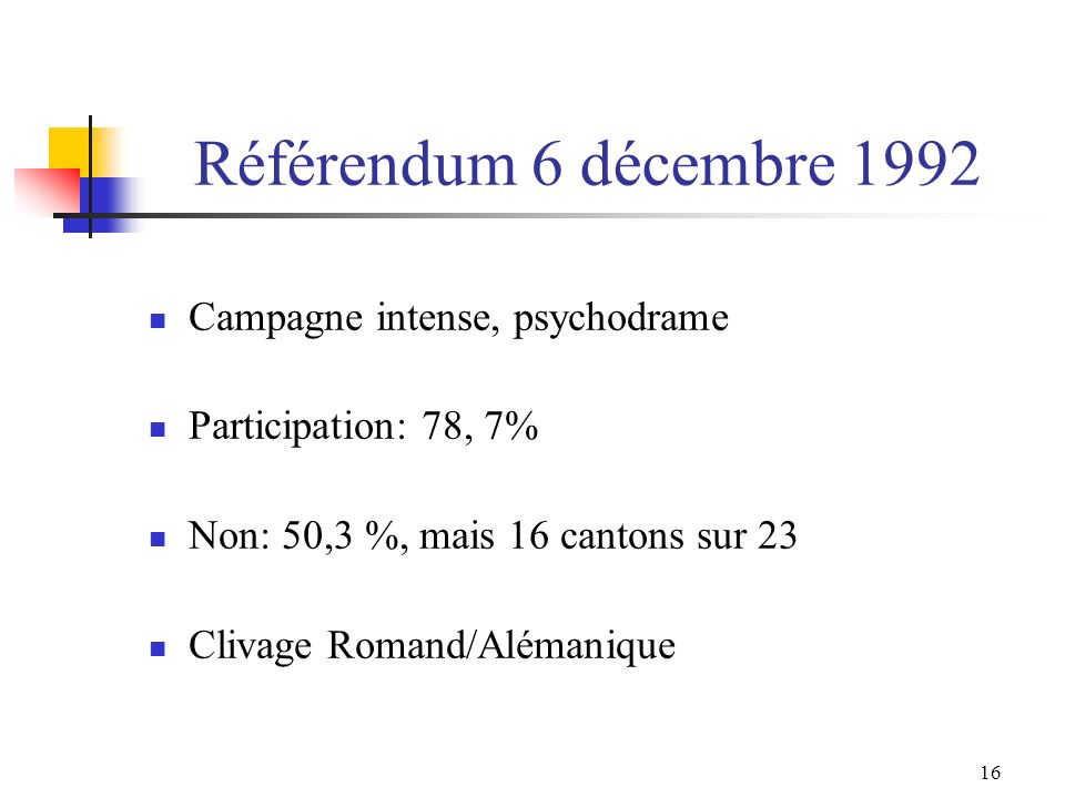 Référendum 6 décembre 1992 Campagne intense, psychodrame