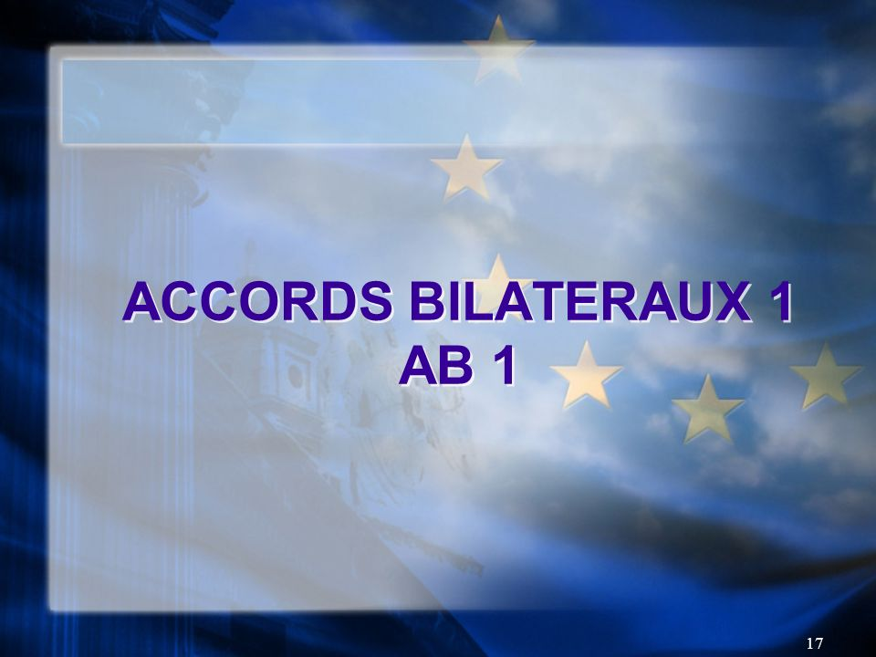 ACCORDS BILATERAUX 1 AB 1