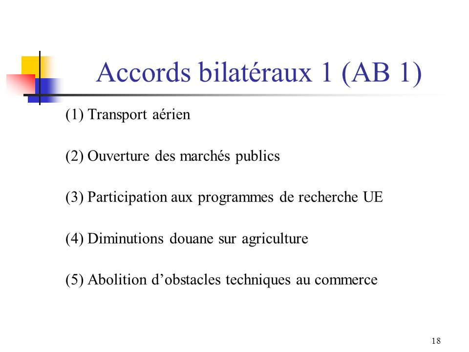 Accords bilatéraux 1 (AB 1)