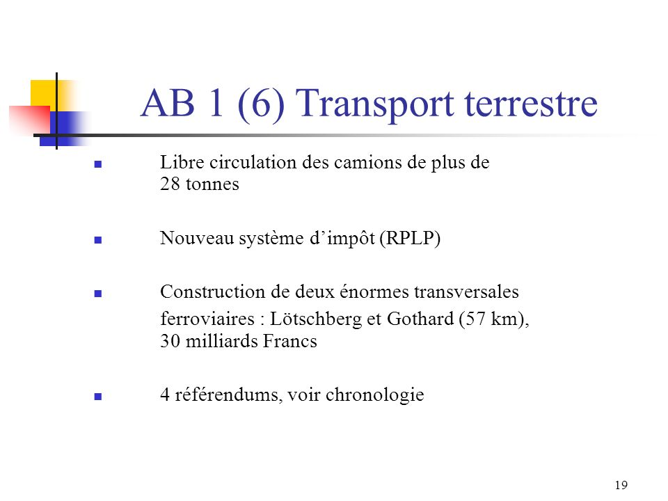AB 1 (6) Transport terrestre