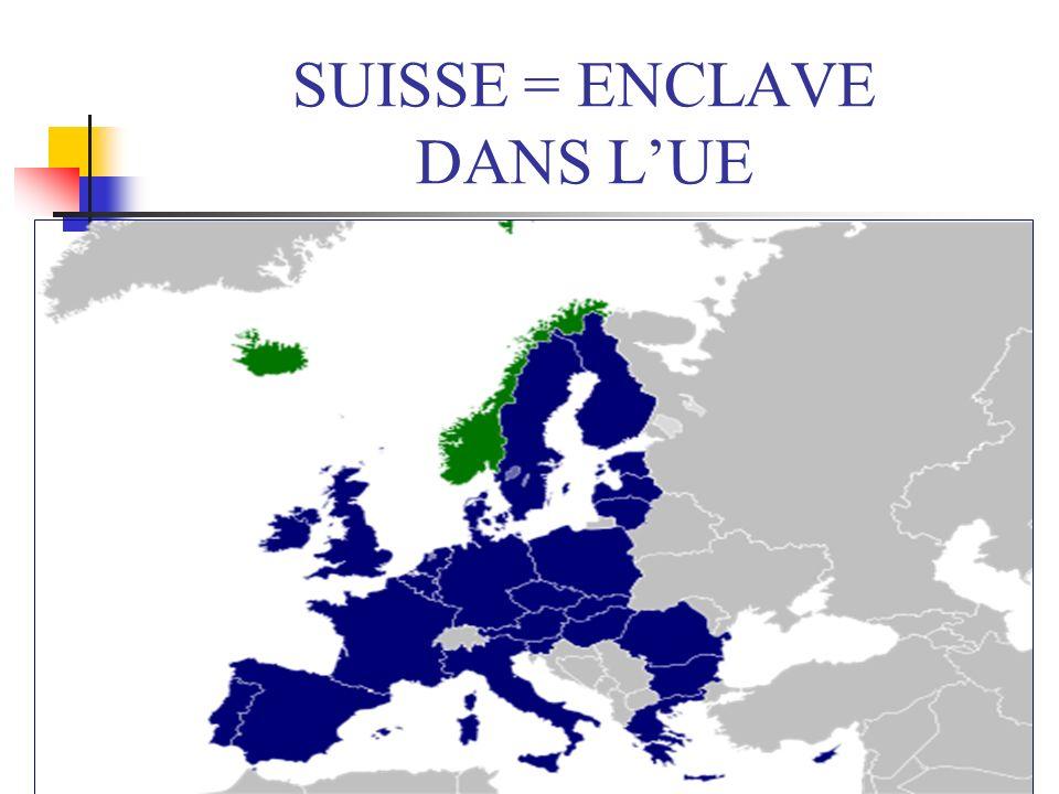 SUISSE = ENCLAVE DANS L'UE