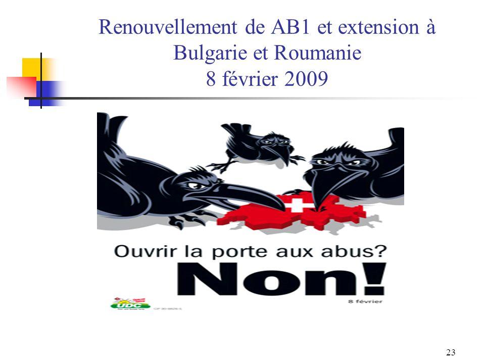 Renouvellement de AB1 et extension à Bulgarie et Roumanie 8 février 2009