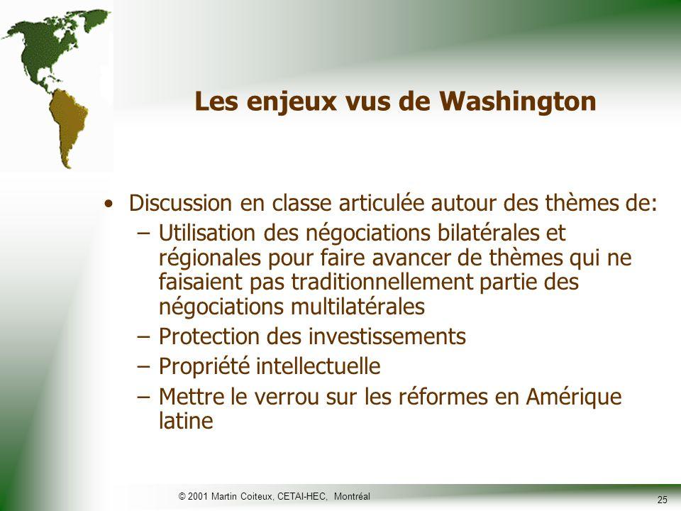 Les enjeux vus de Washington