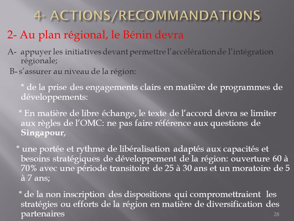4- ACTIONS/RECOMMANDATIONS