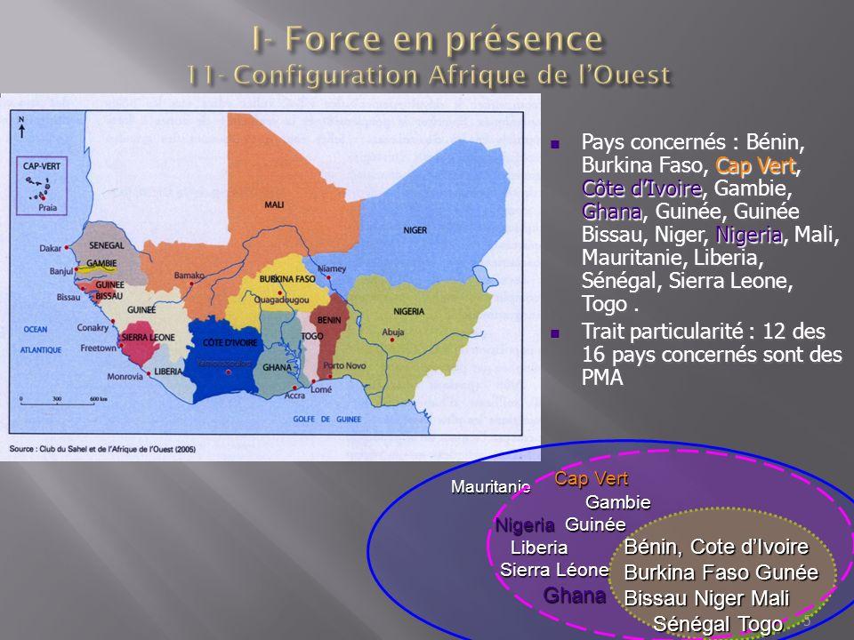 I- Force en présence 11- Configuration Afrique de l'Ouest