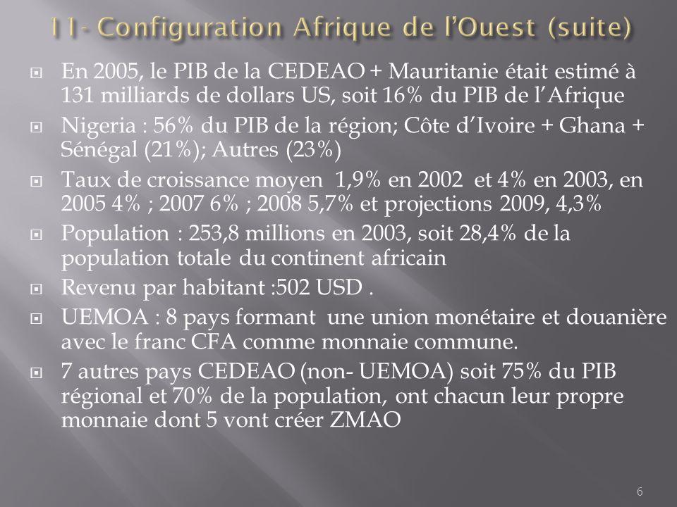 11- Configuration Afrique de l'Ouest (suite)