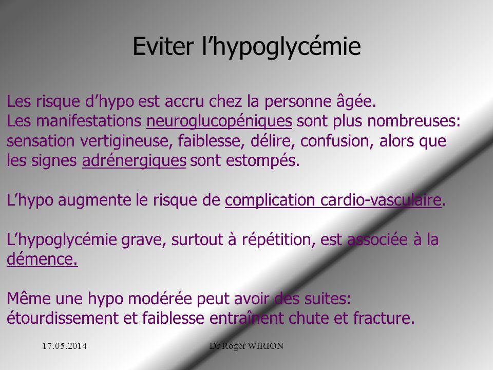 Eviter l'hypoglycémie
