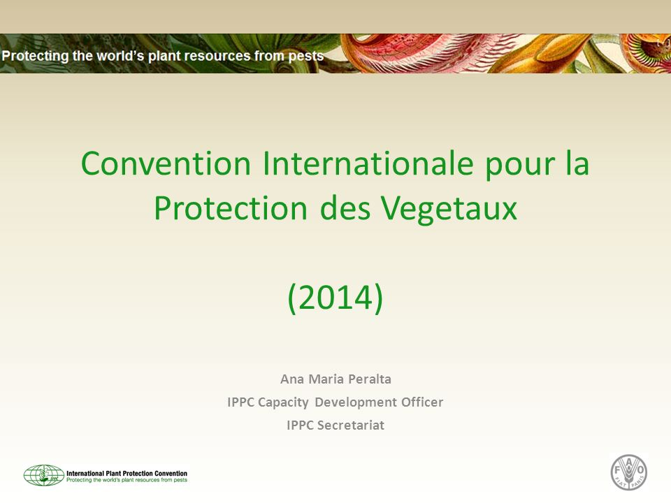 Convention Internationale pour la Protection des Vegetaux (2014)