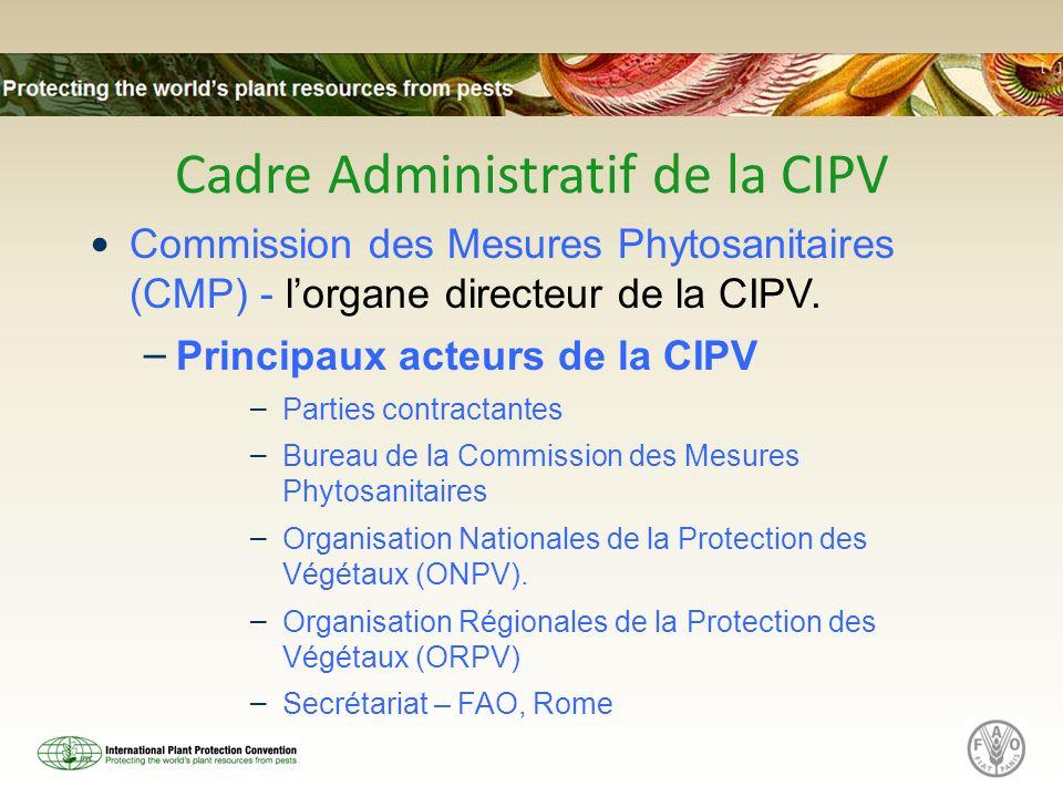 Cadre Administratif de la CIPV