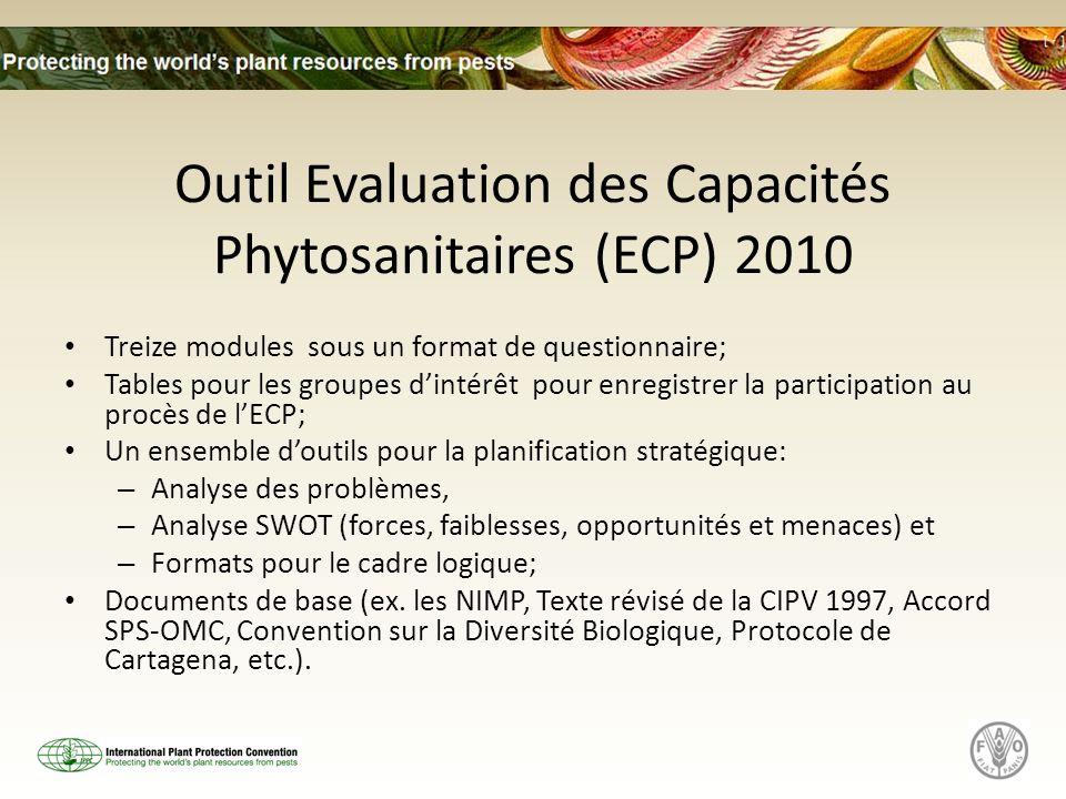 Outil Evaluation des Capacités Phytosanitaires (ECP) 2010