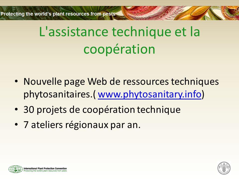 L assistance technique et la coopération
