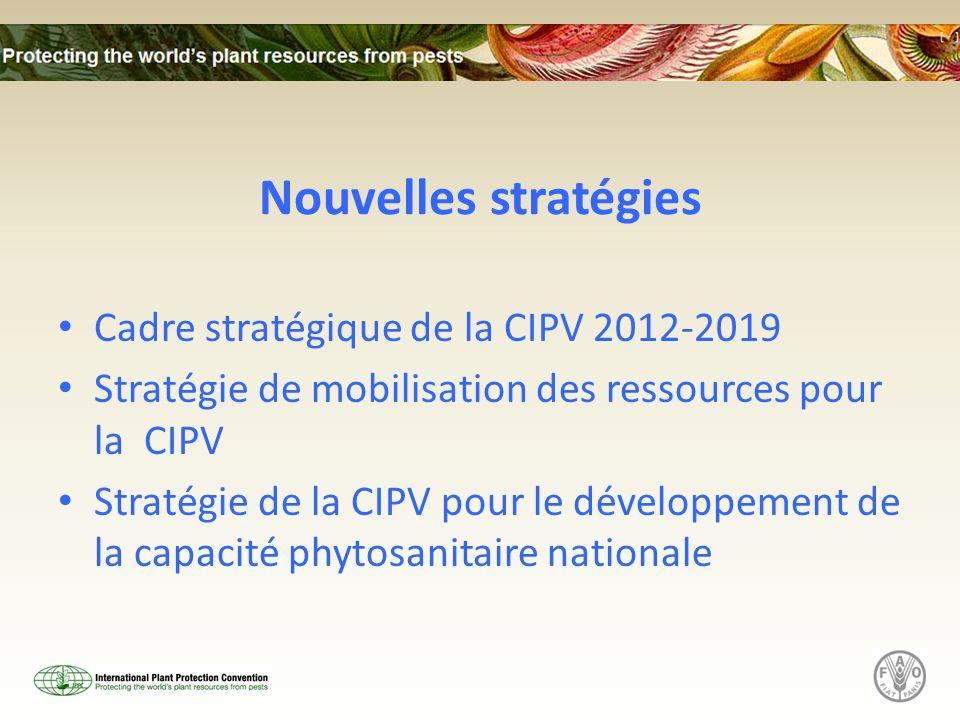 Nouvelles stratégies Cadre stratégique de la CIPV 2012-2019