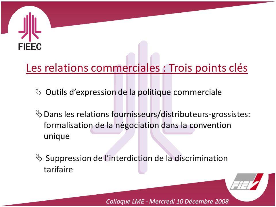 Les relations commerciales : Trois points clés