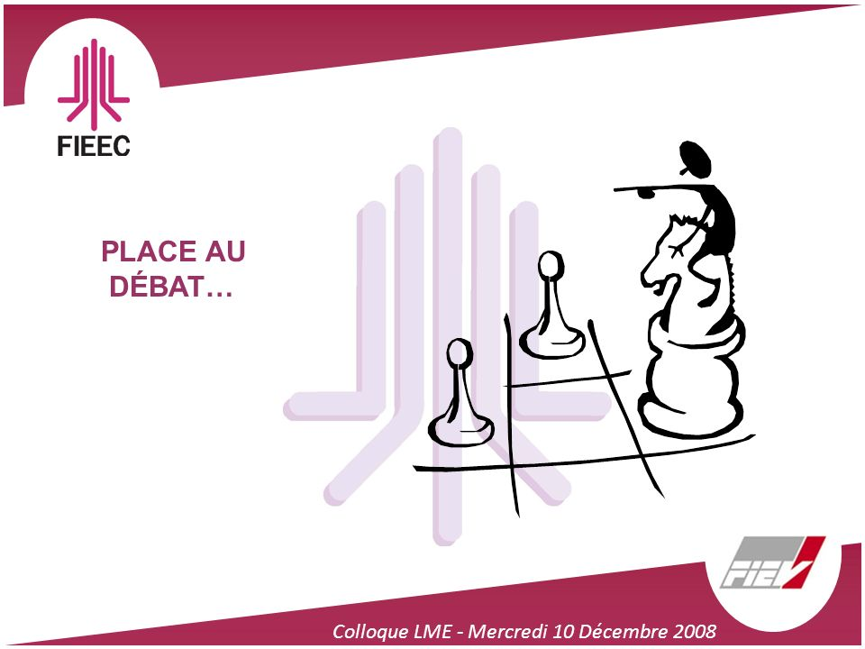 PLACE AU DÉBAT… Colloque LME - Mercredi 10 Décembre 2008 48