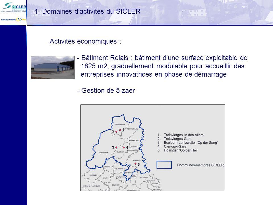 1. Domaines d'activités du SICLER