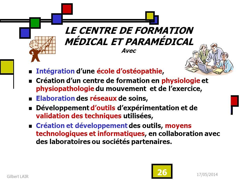 LE CENTRE DE FORMATION MÉDICAL ET PARAMÉDICAL Avec
