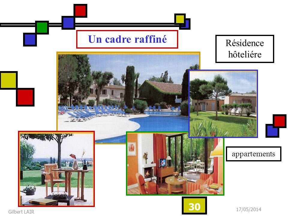 Un cadre raffiné Résidence hôteliére appartements 31/03/2017