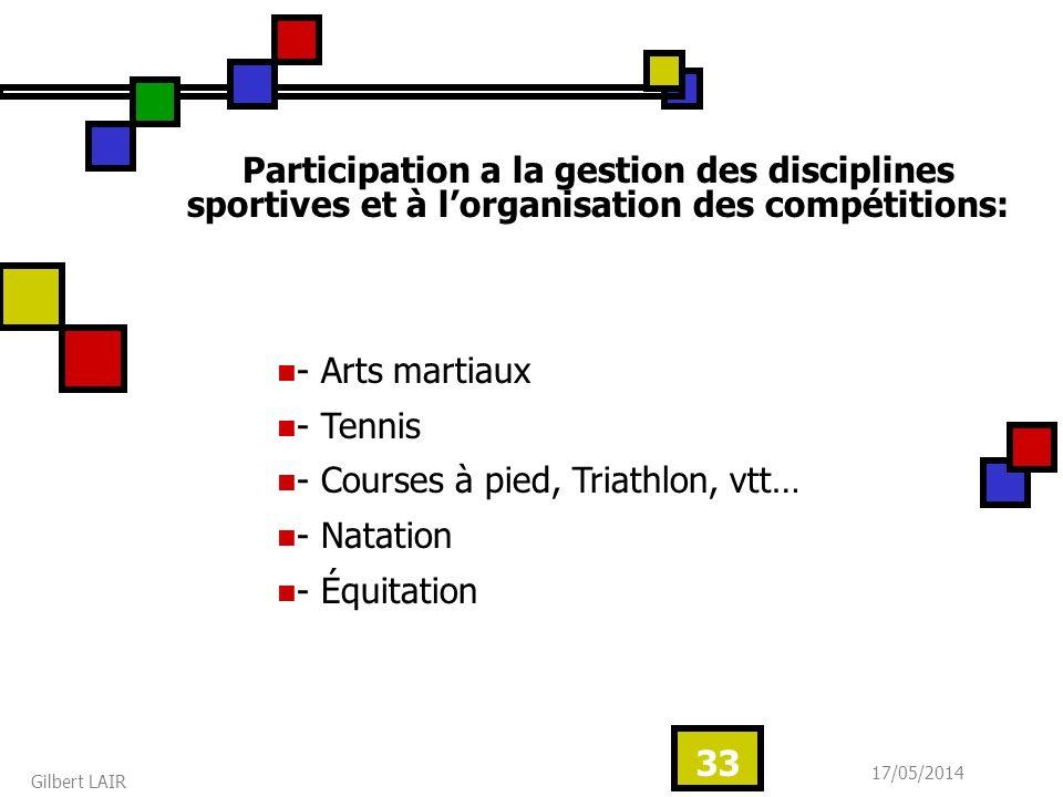 - Courses à pied, Triathlon, vtt… - Natation - Équitation
