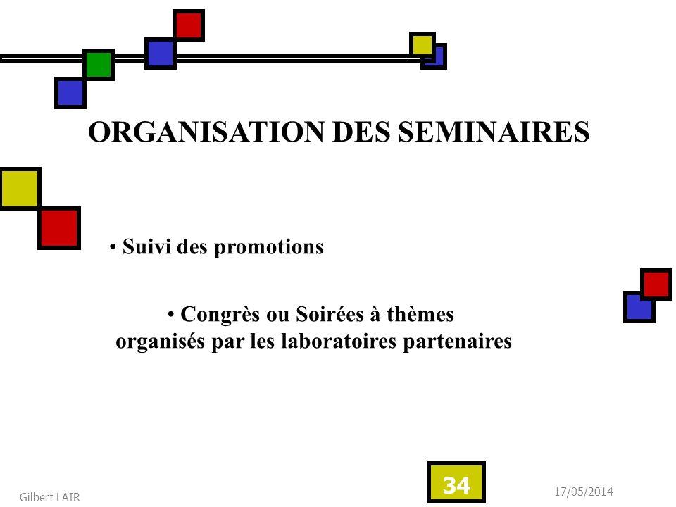 ORGANISATION DES SEMINAIRES