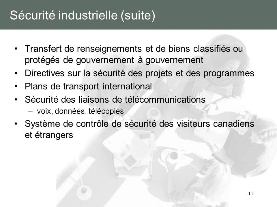 Sécurité industrielle (suite)